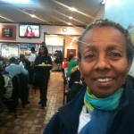 Paulette Alonzi, 65, said she hopes Obama will stop by Valois before he leaves Chicago this afternoon.