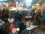 The Obama victory breakfast at Valois drew a busy crowd.