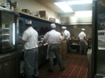 The Valois kitchen staff works the griddle in honor of President Obama's victory.