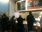 Guests order their Obama victory breakfast at the Valois counter.