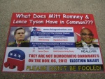 A flyer for State Rep. Derrick Smith, found outside a residential building in Bucktown. (Side two)