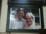 A photo of President Obama with Valois owner Gus Sellis. The picture is right above the ATM machine in the back.